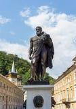 Statua di Ercole nella città della stazione termale di Baile Herculane Immagini Stock