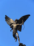 Statua di eros nel circo di Piccadilly immagine stock