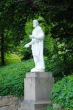 Statua di Euripide nel parco Sofiyivka immagini stock libere da diritti
