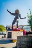 Statua di ex giocatore di football americano Pibe Valderrama Fotografia Stock
