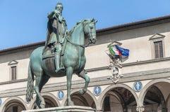 Statua di Ferdinando I de Medici a Firenze, Italia Fotografie Stock Libere da Diritti