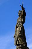 Statua di Francis santo in Varallo (Italia) fotografia stock libera da diritti