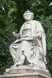 Statua di Franz Schubert, Vienna, Austria fotografia stock libera da diritti