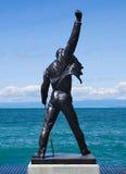 Statua di Freddie Mercury sulla riva del lago geneva Fotografia Stock