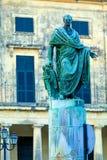 Statua di Frederick Adam, Corfù, Grecia immagini stock