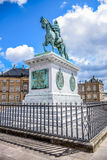 Statua di Frederik V a cavallo, Copenhaghen, Danimarca Fotografia Stock Libera da Diritti