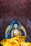 Statua di Gautam Buddha nella meditazione fatta di granito fotografia stock libera da diritti