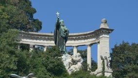 Statua di Gellert del san video d archivio