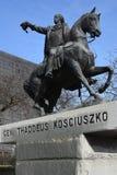 Statua di generale Thaddeus Kosciuszko a Detroit Fotografia Stock