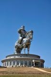 Statua di Genghis Khan fotografie stock
