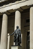 Statua di George Washington, Corridoio federale, New York Fotografie Stock Libere da Diritti