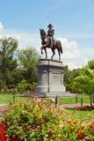 Statua di George Washington nel giardino pubblico di Boston Boston, Massachusetts, U.S.A. immagini stock