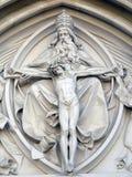 Statua di Gesù Cristo sulla chiesa Immagine Stock Libera da Diritti