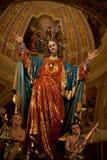 Statua di Gesù del cuore sacro Fotografie Stock