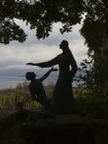 Statua di Gesù nel lago della Galilea Immagini Stock Libere da Diritti