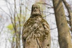 Statua di Gesù sulla tomba Fotografie Stock Libere da Diritti