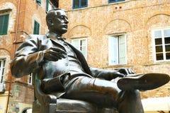 Statua di Giacomo Puccini a Lucca, Italia Fotografia Stock Libera da Diritti