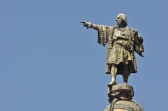 Statua di giorno del Christopher Columbus fotografia stock libera da diritti