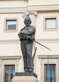 Statua di Giuseppe Garibaldi a Udine Fotografia Stock