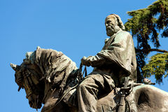 Statua di Giuseppe Garibaldi - Verona Italy fotografie stock