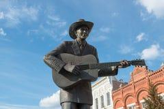 Statua di Hank Williams Jr a Montgomery, Alabama, U.S.A. Immagini Stock Libere da Diritti