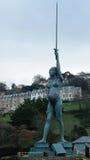 Statua di Hirst nel porto di Ilfracombe in Devon, Regno Unito Immagine Stock Libera da Diritti