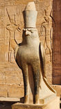 Statua di Horus in tempiale di Edfu Fotografia Stock Libera da Diritti