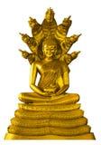 Statua di immagine di Buddha con il naga sopraelevato Immagine Stock
