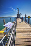Statua di Imperia in porto della città di Costanza in vista del lago di Costanza Costanza è una città situata nell'angolo di sud- Fotografia Stock