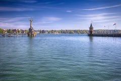 Statua di Imperia in porto della città di Costanza in vista del lago di Costanza Costanza è una città situata nell'angolo di sud- Immagini Stock