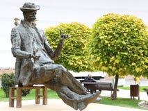 Statua di Ion Luca Caragiale fotografia stock