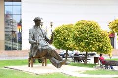 Statua di Ion Luca Caragiale Immagini Stock