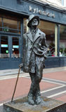 Statua di James Joyce in Dunlin, Irlanda immagine stock