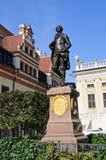 Statua di Johann Wolfgang Goethe - Leipzig, tedesca Fotografia Stock