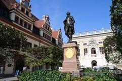 Statua di Johann Wolfgang Goethe - Leipzig, tedesca Immagini Stock Libere da Diritti