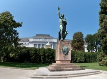 Statua di Joseph-Gorres-Denkmal in Palacein elettorale anteriore Coblenza Fotografie Stock
