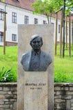 Statua di Jozsef Antall, ex Primo Ministro ungherese Fotografia Stock Libera da Diritti
