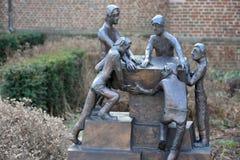 Statua di lavoro di alcuni uomini Fotografia Stock