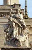 Statua di legge, della Patria, Roma di Altare Fotografia Stock