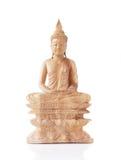 Statua di legno del Buddha Immagini Stock Libere da Diritti