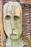 Statua di legno del periodo celtico Fotografia Stock Libera da Diritti