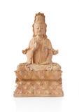 Statua di legno di Guan Yin Fotografia Stock Libera da Diritti