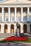 Statua di Lenin vicino al palazzo di Smolny, san Fotografia Stock