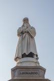 Statua di Leonardo Da Vinci Fotografia Stock