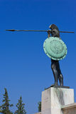 Statua di Leonidas da Sparta Immagine Stock