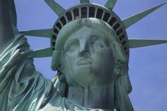Statua di libertà & del tramonto di New York City Fotografie Stock