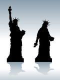 Statua di libertà depressa royalty illustrazione gratis