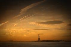Statua di libertà due Fotografia Stock