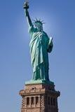Statua di libertà & del tramonto di New York City Immagini Stock Libere da Diritti