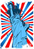 Statua di Liberty Grunge Immagine Stock